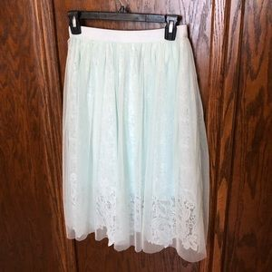 Esley Tulle Lace Mint Green Fairy Skirt